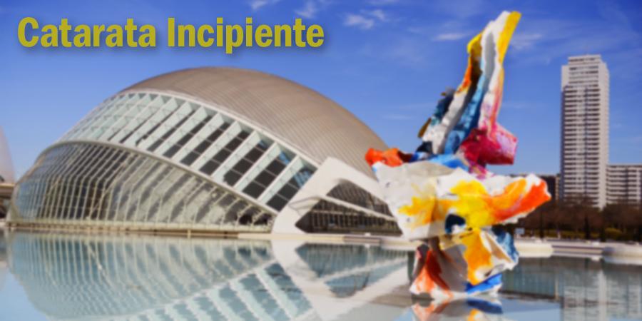 Visión en un paciente con una catarata incipiente. Hemisfèric - Ciudad de las Artes y de las Ciencias de Valencia.